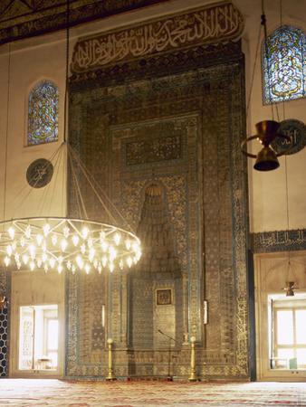 Turkey. Bursa. Yesil Mosque. Ottoman Style. Architect, Hac? I?Vaz Pasha, 15th Century. Mihrab