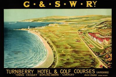 Turnberry Hotel and Golf Courses, Poster Advertising British Railways