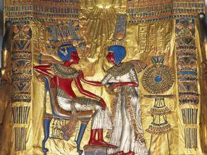 Tutankhamen a Ankhesenamen, Relief, C20 BC