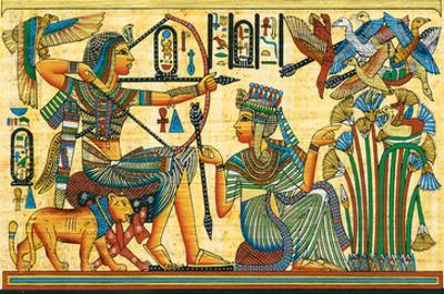 Tutankhamun Hunting Birds
