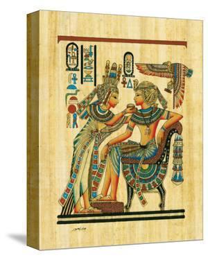 Tutankhamun with His Queen