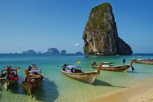 Ao Phra Nang Bay, Railay Beach, Hat Tham Phra Nang Beach, Krabi Province, Thailand by Tuul