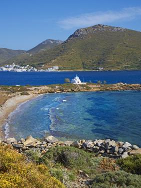 Beach and Church, Agios Panteleimon, Amorgos, Cyclades, Aegean, Greek Islands, Greece, Europe by Tuul