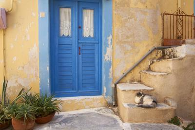 Blue Door, Ermoupoli (Khora), Syros Island, Cyclades, Greek Islands, Greece, Europe by Tuul