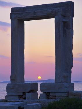 Gateway, Temple of Apollo, Archaeological Site, Naxos, Cyclades, Greek Islands, Greece, Europe by Tuul