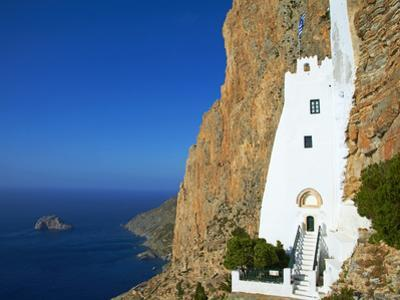 Hozoviotissa Monastery and Aegean Sea, Amorgos, Cyclades, Greek Islands, Greece, Europe by Tuul