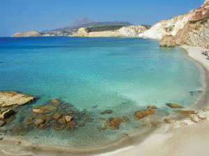 Turquoise Sea, Firiplaka Beach, Milos, Cyclades Islands, Greek Islands, Aegean Sea, Greece, Europe by Tuul