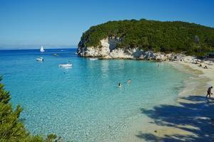 Vrika Beach, Antipaxos, Antipaxi, Ionian Islands, Greek Islands, Greece, Europe by Tuul