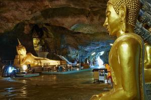 Wat Tham Suwan Khuha Buddhist Cave, Phang Nga Bay, Krabi Province, Thailand, Southeast Asia, Asia by Tuul