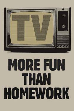 TV More Fun Than Homework