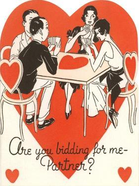 Twenties Bridge Game, Valentine