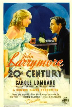 Twentieth Century (Aka 20th Century), Carole Lombard, John Barrymore on Midget Window Card, 1934
