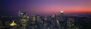 Twilight, Aerial, New York City, New York State, USA