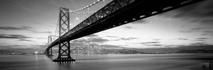 Twilight, Bay Bridge, San Francisco, California, USA