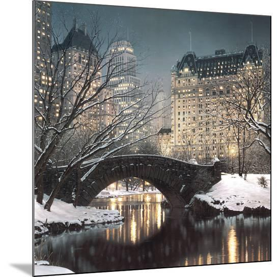 Twilight in Central Park-Rod Chase-Mounted Print
