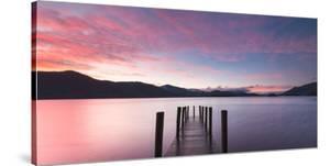 Twilight on lake, UK