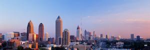 Twilight, Skyline, Atlanta, Georgia, USA