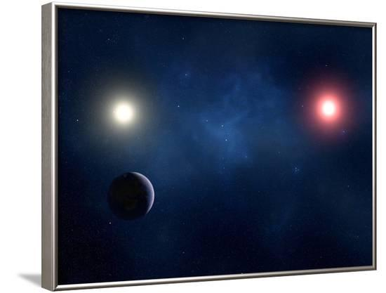 Twin Star System, Artwork--Framed Photographic Print
