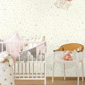 Twinkle Little Star Gold Peel & Stick Wallpaper
