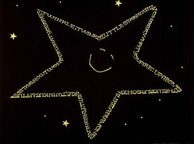 Twinkle Twinkle Little Star Text Art Print Poster