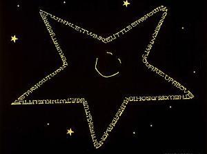 Twinkle Twinkle Little Star Text Art Print Poster