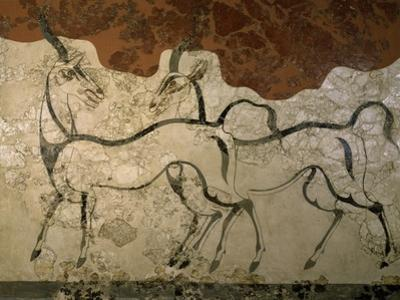 Two Antilopes, Minoan Fresco
