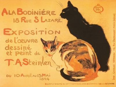 Two Cats, Steinlen Exhibit
