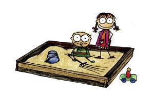 Two Children in a Sandbox