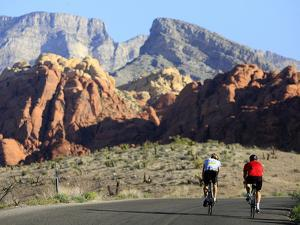 Two Cyclists Ride Along the 13-Mile-Long Scenic Drive
