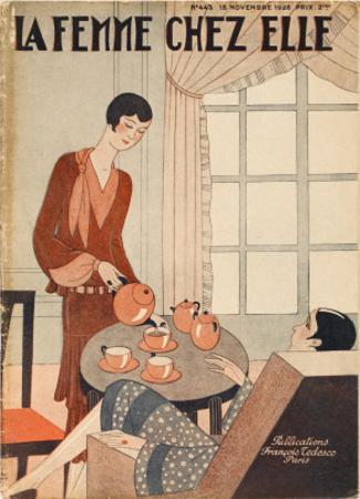 Two Elegant Women Enjoy a Cup of Tea at Five O'Clock
