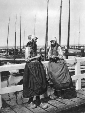Two Girls on the Landing Stage, Marken, Netherlands, C1934
