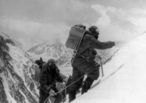 Two Hunza Porters Climb Up To the Fourth Camp on the Abruzzi Spur of K2