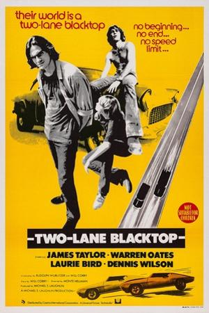 Two-Lane Blacktop, James Taylor, Laurie Bird, Dennis Wilson, 1971