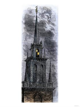 Two Lanterns in the Belfry of the Old North Church, Signalling Paul Revere Ride, 1775