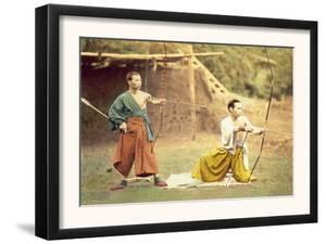 Two Men Practicing Archery