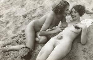 Two Nudes on Beach