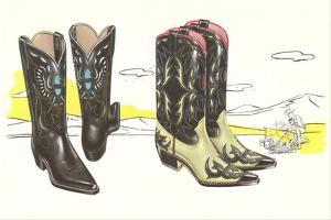 Two Pair of Fancy Cowboy Boots
