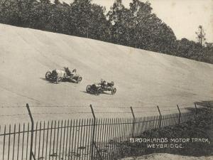 Two Racing Cars Compete