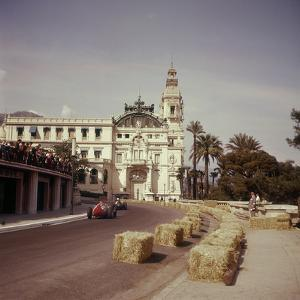 Two Racing Cars Taking a Bend, Monaco Grand Prix, Monte Carlo, 1959