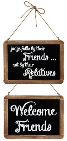 Two Sided Friends Chalkboard