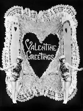 Two Women Posing on Valentine