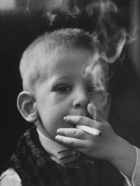 Two-Year-Old Smoking