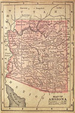 1880 Map Of Arizona by twoellis