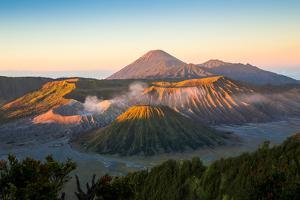 Sunrise at Mount Bromo Volcano, the Magnificent View of Mt. Bromo Located in Bromo Tengger Semeru N by TWStock