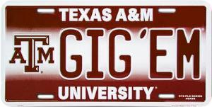 TX A&M GIG'EM