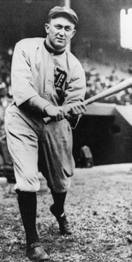 Ty Cobb, Star of the Detroit Tigers, Batting in 1910