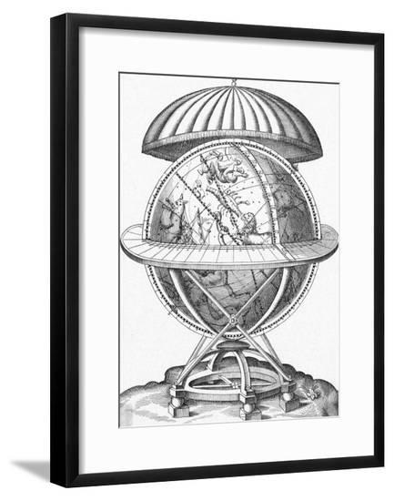 Tycho Brahe's Globe--Framed Giclee Print