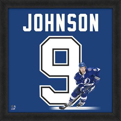 Tyler Johnson, Lightning Framed photographic representation of the player's jersey