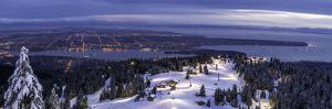 Panorama of Vancouver from mountain peak above ski resort, Vancouver, British Columbia, Canada, Nor by Tyler Lillico