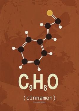 Molecule Cinnamon by TypeLike